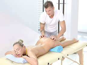 Sporty Blonde Massage