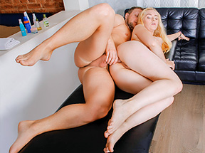 Sweet Blonde Gets All Holes Fucked During Massage